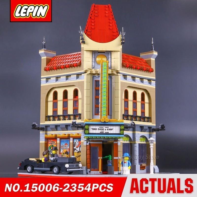 где купить Lepin 15006 Palace Cinema 10232 City Street Series Model Building Block Brick Kits Assembling Gift Toys по лучшей цене