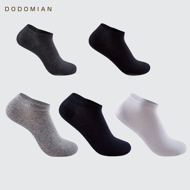 5pairs/lot Casual Breathable Men Business Short Socks Cotton Mens Low Cut Socks Solid Ankle Socks Slippers Chausettes Homme