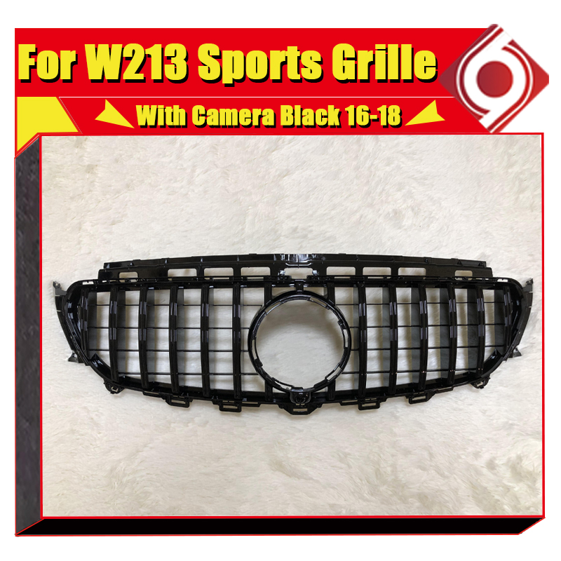 E63 look GT R Style grille For MercedesMB W213 front bumper Grills E Class E200 E250 E300 E350 E400 ABS Black Without Sign 16 in Racing Grills from Automobiles Motorcycles