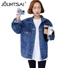 Plus Size Woman Jeans Jacket 2016 New Spring Summer 5XL Loose Denim Jacket Women Long Sleeve Casual jaqueta jeans Coat