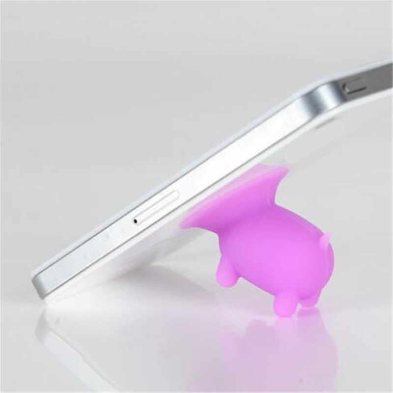 Bonito dos desenhos animados Porco Silicone Ventosa Titular Otário Suporte Para Iphone 6 S 7 8 Plus Para Telefone Celular Sumsung celular