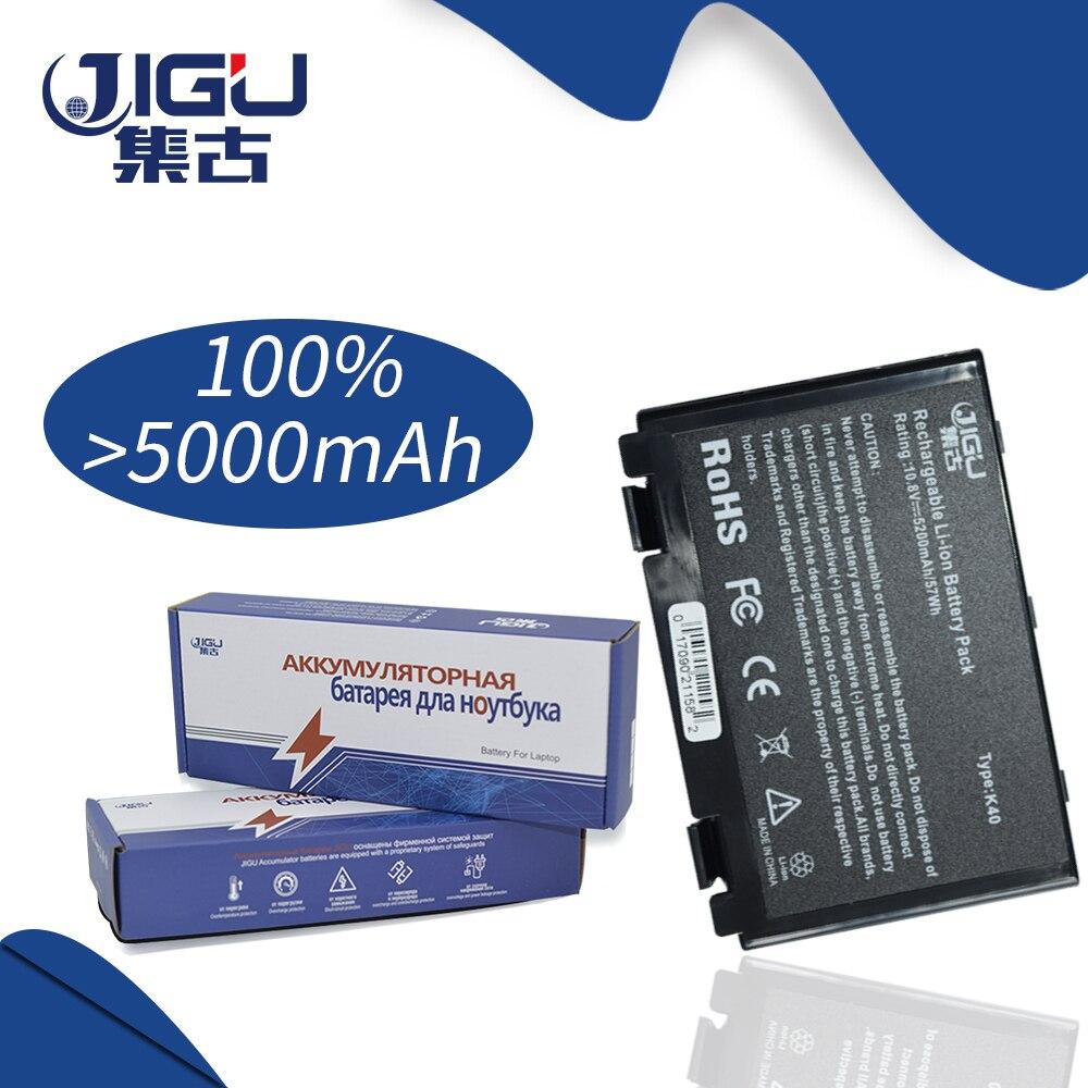 JIGU 5200MAH Laptop Battery For Asus K50AB K70 A32-F52 F82 K50I K60IJ K40 K40in K50 K50in K50ab K42j K51 K60 K61 K70 P81 X5A X5E hsw 5200mah new 6cells k50in battery pack for asus k40 f82 a32 f52 k50 k60 l0690l6 a32 f82 k40in k40af k50ij bateria