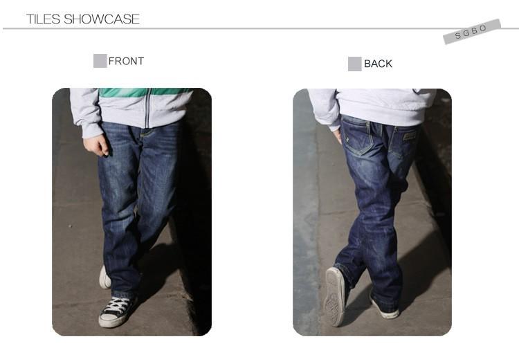 2015 New Fashion Big Boys Jeans Kids High Quality Brand Denim Trousers Children Casual Cowboy Pants Big Size 6 8 10 12 14 16 Y (5)