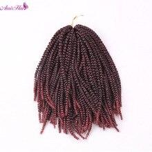 Амир волос 10 дюймов синтетического вьющихся волос с 50strands короткие черные и ombre блондинка и бордовый весна curl крючком косы