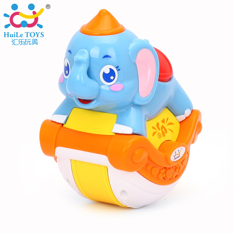 HUILE TOYS 3105C Baby Toys Musical Sliding Animals Elephant with Lights & Music Electronic Toys Pets Toys for Children Boy Gifts small music tesla coils plasma speakers wireless lighting ion windmills electronic toys gifts