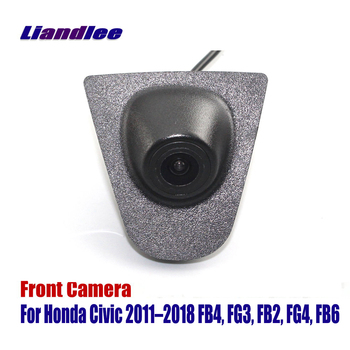 Liandlee AUTO CAM Car Front View Camera Logo Embedded For Honda Civic 2011-2018 FB4 FG3 ( Not Reverse Rear Parking )
