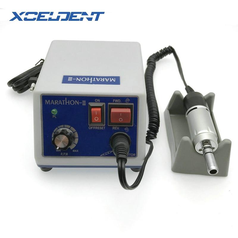 Dental Lab Electric Micro Motor Machine Dentist Dental Lab Drilling Machine N3 110V/220V+E Type Micromotor 35000RPM Handpiece