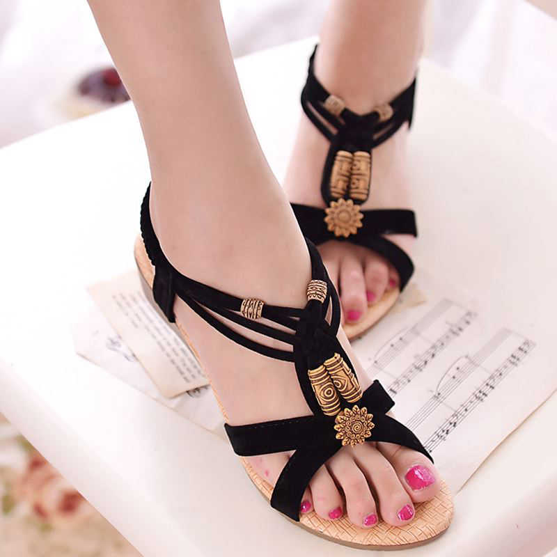 Sandálias femininas 2019 roma estilo gladiador sandálias com cunhas sapatos femininos sandálias de verão saltos zapatos mujer casual praia sapatos