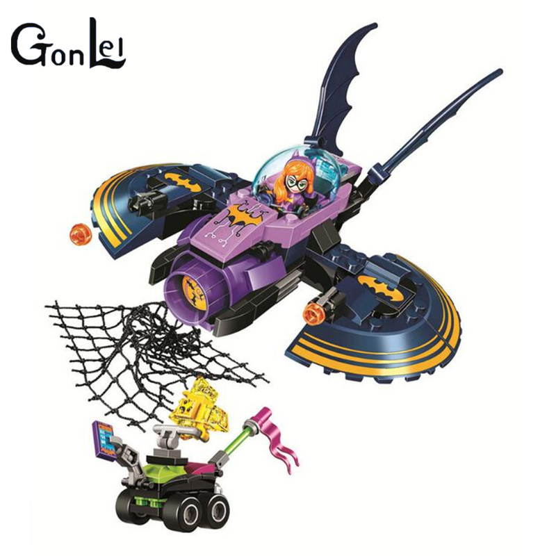 (GonLeI) Super Hero Girls Batgirl Batjet Chase 10615 Block Set Kryptomite buggy Compatible with 41230 Toy велосипед navigator super hero girls 18 разноцветный двухколёсный