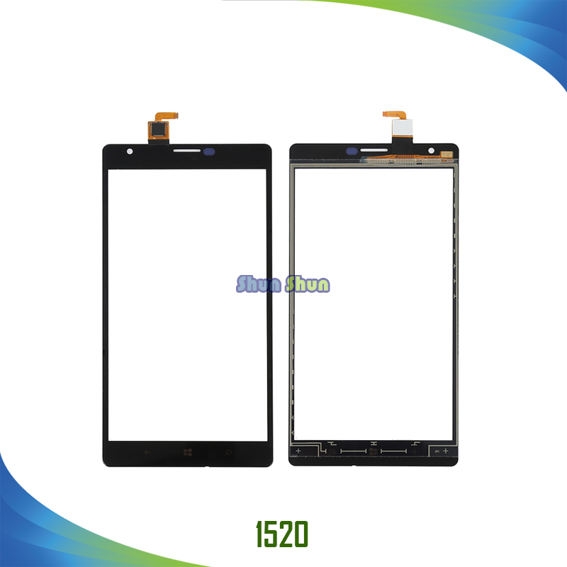 6.0 N1520 Touch Screen for Nokia Lumia 1520 N1520 Touch Digitizer Sensor Front Glass Panel Lens Black Mobile Phone Parts