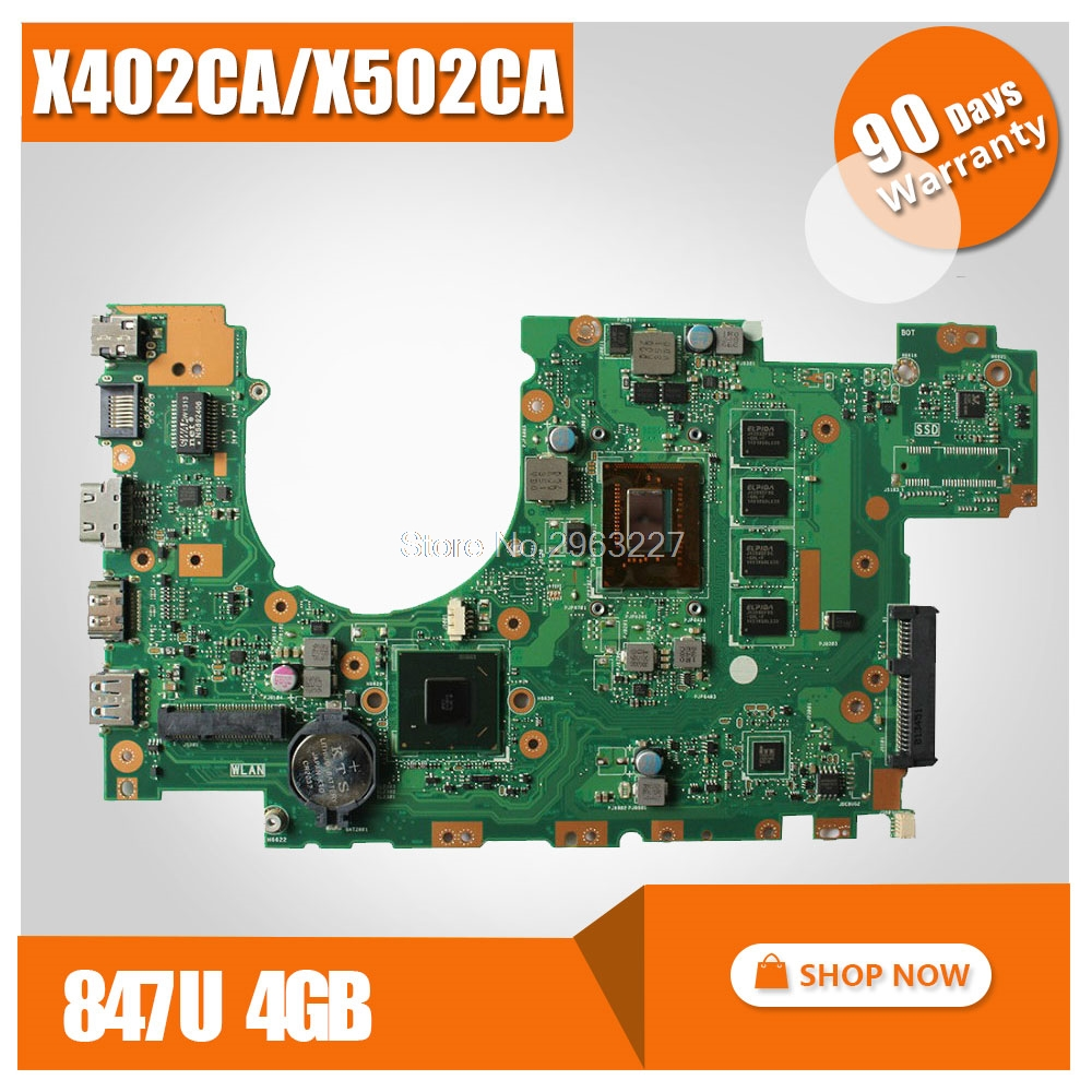 все цены на X502CA Laptop Motherboard X402CA REV2.1 with 847cpu 4g for ASUS Mainboard Fully tested онлайн