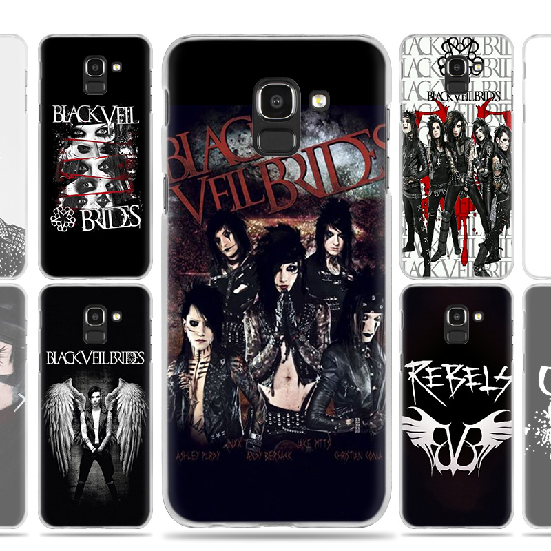 Hard PC Phone Case Cover Shell for Samsung Galaxy J7 J5 2017 Prime J8 J6 J5 2018 Plus A6S A8S A20 A40 Black Veil Brides BVB Capa