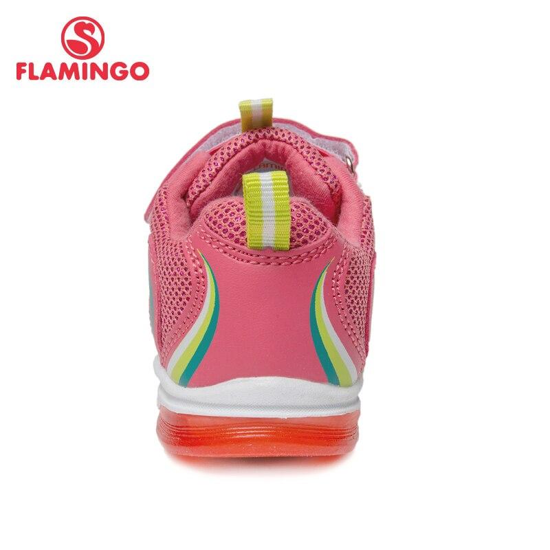 Кроссовки Фламинго для девочек 81K BK 0584, кожаная стелька, вид застежки липучка, подошва со светодиодами, для спорта и отдыха. - 5