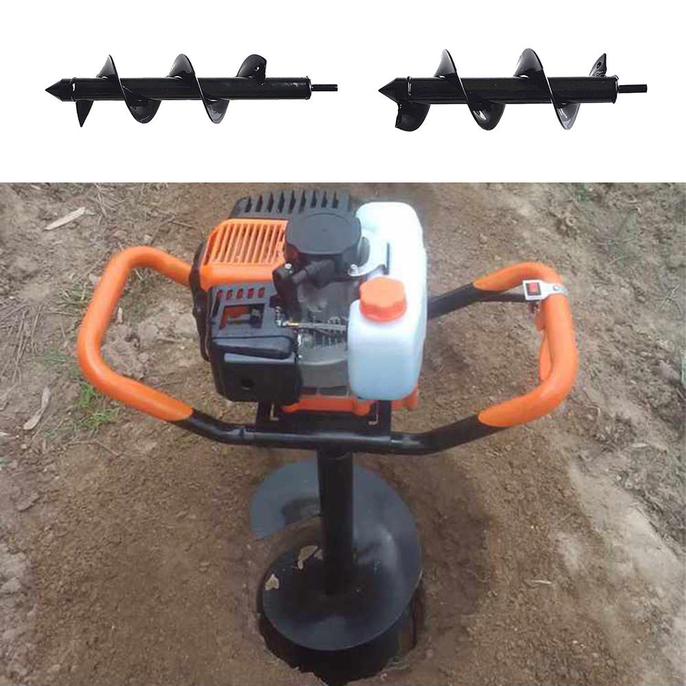 Hand Electric Cordless Drill  8 * 30/25cm Garden Grass Plug Plant Flowe Auger Drill Short Rod Hex Wist Drill
