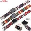 Laopijiang Нейлон ремешок для часов яблоко часы Много цветов холст Iwatch спорт водонепроницаемый нейлон ремешок для часов 42 мм