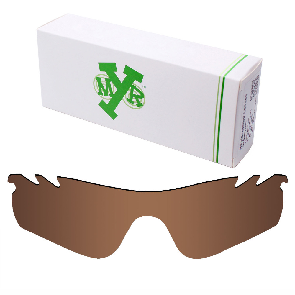 6e094d6f9b Mryok POLARIZED Replacement Lenses for Oakley RadarLock Path Vented  Sunglasses Bronze Brown