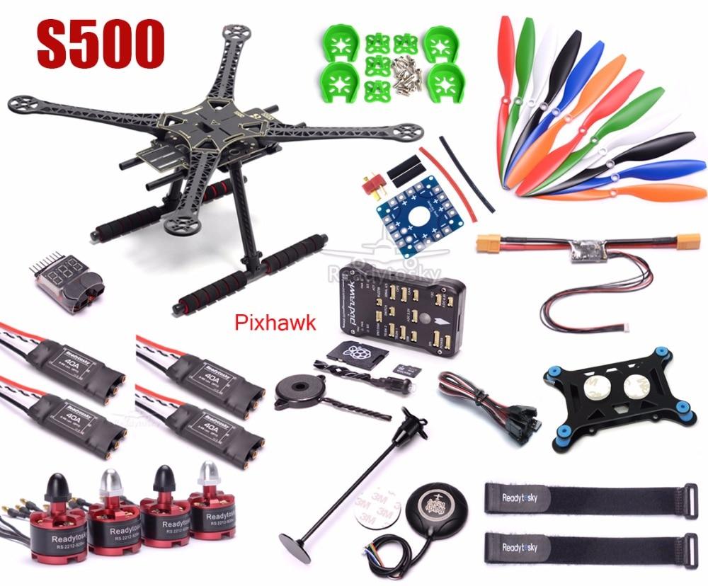 S500 Multi-Copter Quadcopter PCB Kit Pixhawk PX4 PIX 2 4 8 32 Bit Flight  Controller M8N GPS 2212 920kv Motor Super combo