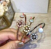 fashion famous brand jewelry star bangle viking bracelet letter signature bracelet