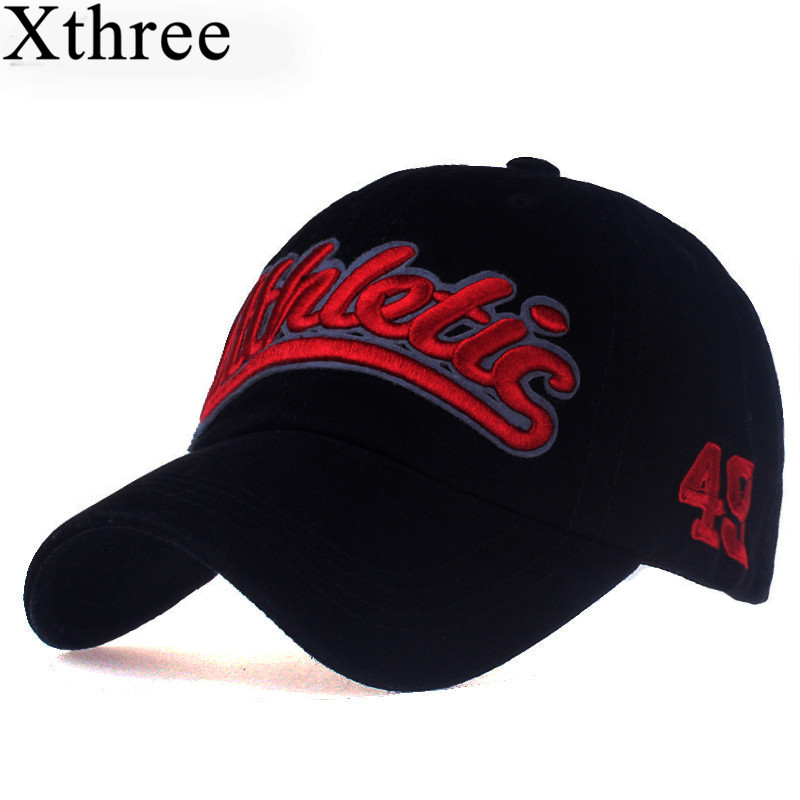 Xthree 100% cotton women   baseball     cap   casual snapback hat for men casquette homme Letter embroidery gorras