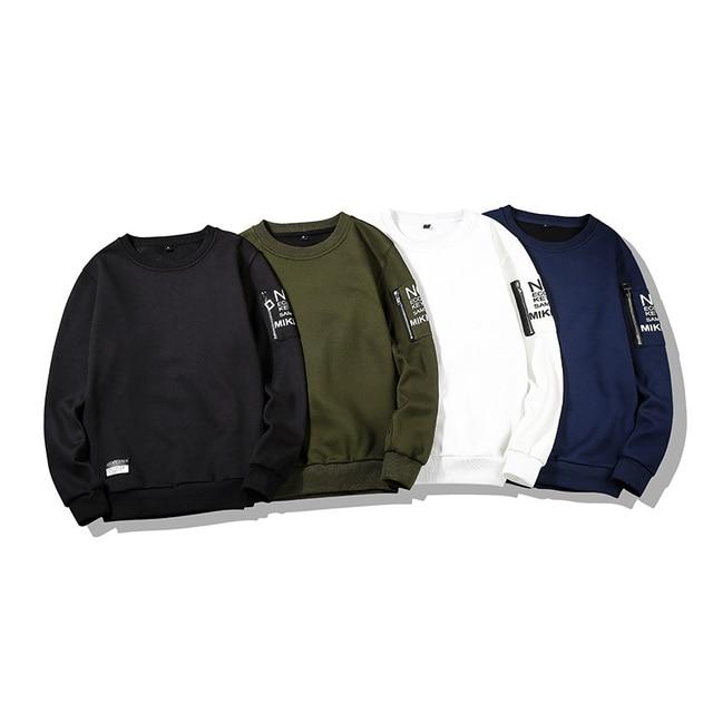 Autumn Men's Hoodies Sweatshirt Hoodies & Sweatshirts Unisex color: Black|Blue|Green|White
