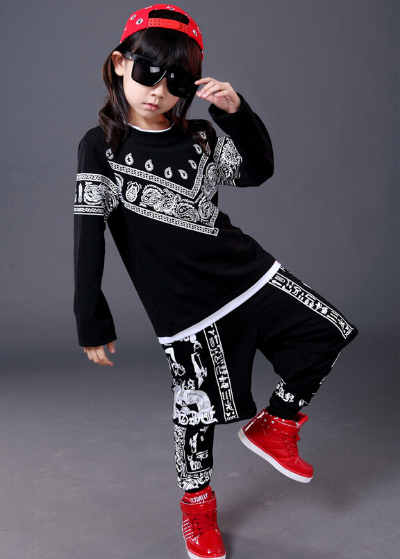 2017 New fashion spring Autumn children's clothing sets Boys /Girls Clothes sweatshirt + Hip Hop harem pants kids sport suits uovo brand kids spring autumn new sport shoes for girls green color casual sneakers kids fashion canvas shoe zapatos eu 30 37