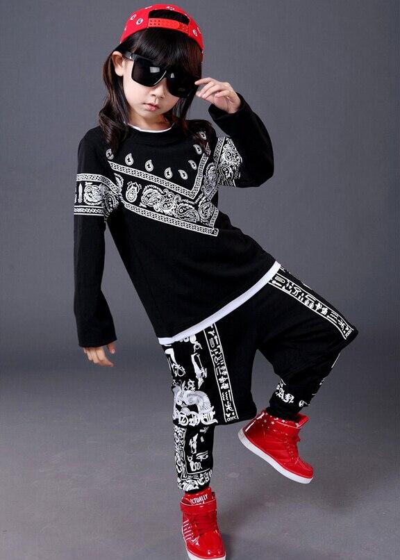 fb77044c5a2 2018 New fashion spring Autumn children s clothing sets Boys  Girls Clothes  sweatshirt + Hip Hop harem pants kids sport suits