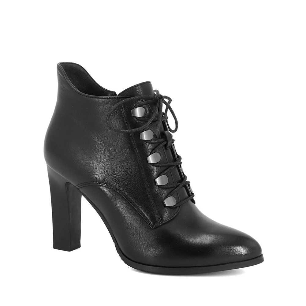 SOPHITINA 2019 ฤดูใบไม้ร่วงใหม่รองเท้าหนังแฟชั่น Elegant Sheepskin รองเท้าอุ่น Rivet เซ็กซี่ Pointed Toe รองเท้า Office Lady B82