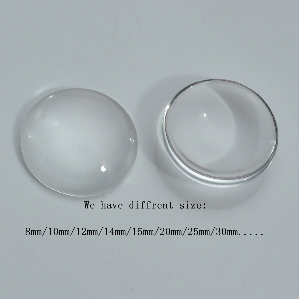 Crystal Clear Circle Domes Cabs 30mm Round Glass Cabochons FREE SHIPPING
