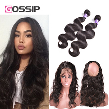360 Lace Frontal With Bundles Peruvian Body Wave With Closure 360 Lace Frontals With Baby Hair Human Hair Bundles With Closure
