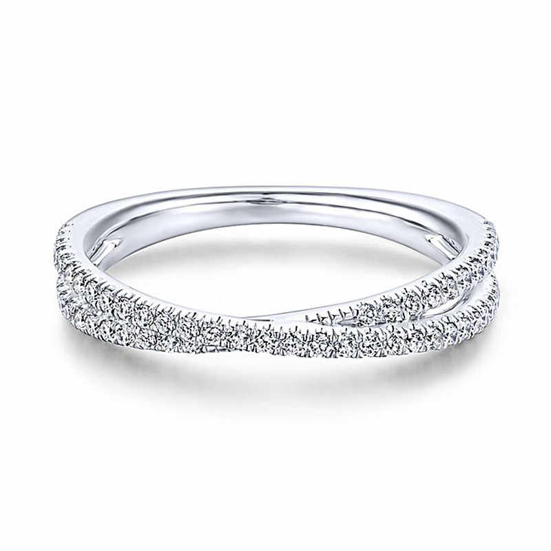 Modyle różowe złoto kolor niekończące się piękno skręcanie fala Cubic cyrkon Ring Finger dla kobiet biżuteria na prezent zaręczynowy