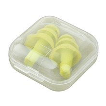1 Pair Spiral Convenient Silicone Ear Plugs Anti Noise Snoring Earplugs Comfortable For Sleeping Noise Reduction Accessory