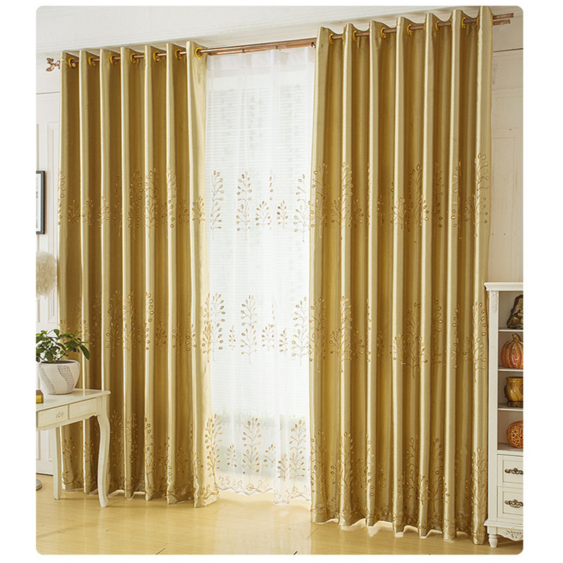 Charming Modern Blackout Curtains Full Shade Solid Color Window Treatments Bedroom  Drape Silver Gold Curtains Short Kitchen