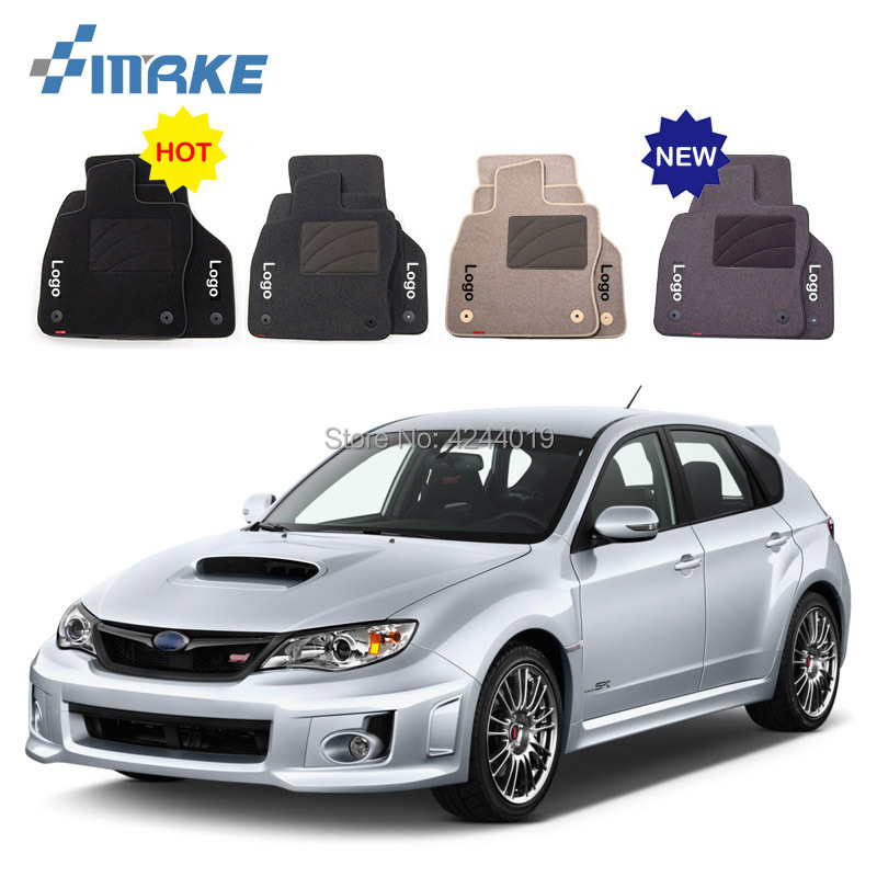 For Subaru Impreza Car Floor Mats Front Rear Carpet Complete Set Liner All Weather Waterproof Customized Car Styling