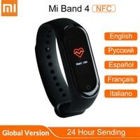 Original Xiaomi Mi Band 4 NFC Version Fitness Tracker Mi Band 4 Global Smart Bracelet 5ATM Waterproof Heart Rate Pedometer