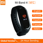 ①  Оригинал Xiaomi Mi Band 4 NFC Версия Фитнес-Трекер Mi Band 4 Глобальный Умный Браслет 5ATM Водонепро ✔