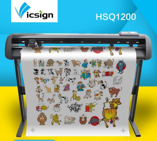 Vicsign 48 HSQ1200 Traceurs De Découpe Machine Avec Servo Moteur/Automatique Contour De Coupe Auto-Adhésif Vinyle Cutter + Roland lame