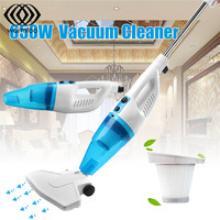 Ultra Quiet Portable Hand Vacuum Cleaner 650W Bagless Rod Mini Vacuum Cleaner Hepa Filter Dust Collector