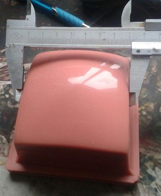 DJ wholesale B319/60X60mm Printing Area Pad Printing Silicone Rubber Roundness Head Pad Printing Rubber Head pad printing rubber pad square pad