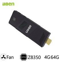 Bben мини-ПК с дома windows10 или Ubuntu Система Intel Cherry Trail z8350 процессор, встроенный вентилятор