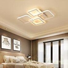 New surface mount rectangular modern led ceiling chandelier living room dining bedroom aluminum device