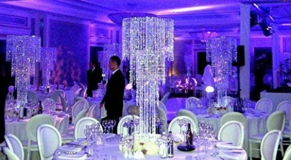 80cm Tall Crystal Table Centerpieces Wedding Decoration Flower Stand Table  Chandelier