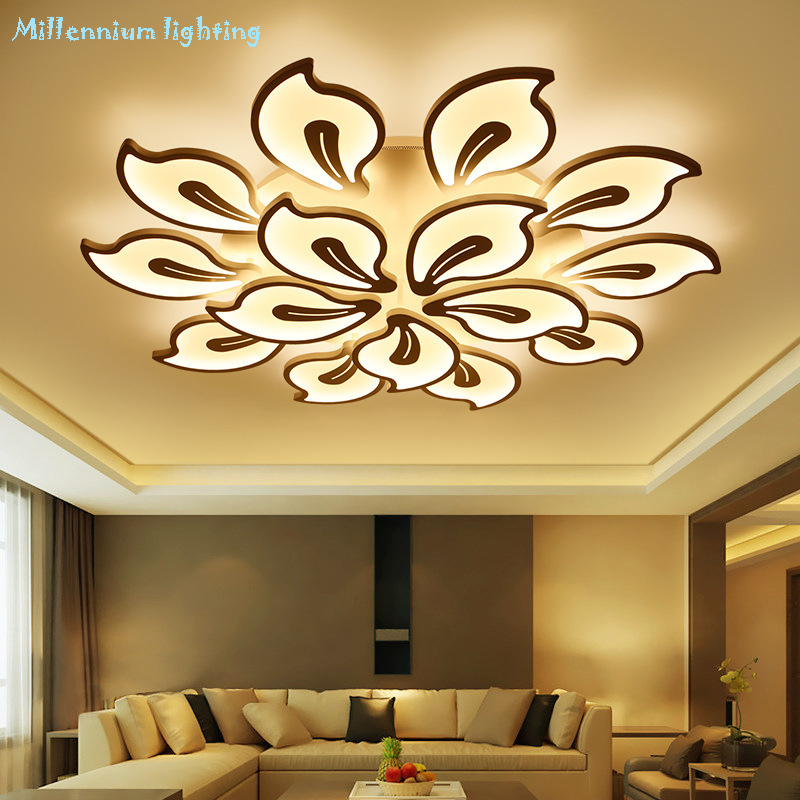 Modern creative ceiling lamp living room bedroom dining Study room light Acrylic led Chandelier lamp fixtures Dimming Home Decor new led wall light creative footprint dimming lamp for bedroom dining room lamp acrylic circular sitting room lighting