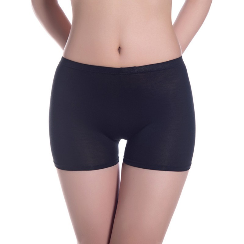 Soft Modal Fabric Women   Panties   Elastic Seamless Solid Color Female Safety Underpants 2018 New Comfy Lady Intimate Briefs