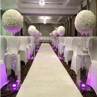 16 40 cm Big Size Milk White Fashion Artificial Rose Silk Flower Kissing Balls For Wedding Party Centerpieces Decorations