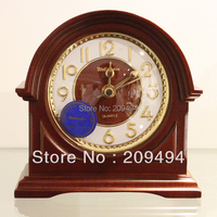 Newest Arrival Europe Style Wooden Antique Clock Desktop Parlour Bed Room Clock Quartz Super Mute Movement Small Clock