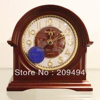 Anique Style High Quality Table Clock Desk Clock Super Mute Movement Quartz Clock Wooden Clock