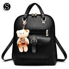 Senkey Style Women Backpack 2017 Famous Brand School Bags For Teenagers Girls Leather Travel Backpack Travel