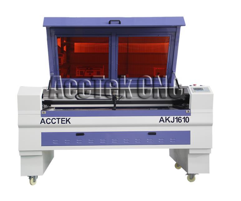 High speed AccTek laser cutter AKJ1610 CO2 laser cutting machine