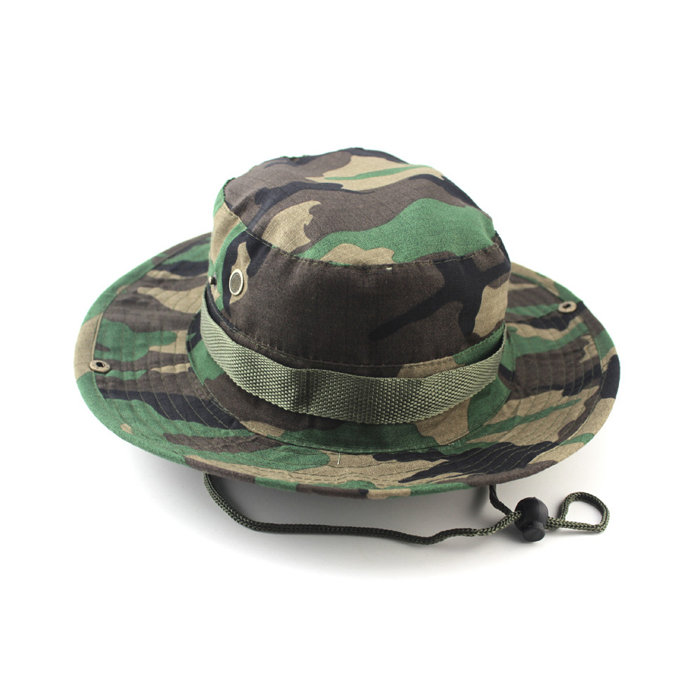 ce30187d36e9d 2019 Bucket Hats Outdoor Jungle Camouflage Bob Camo Bonnie Hat ...