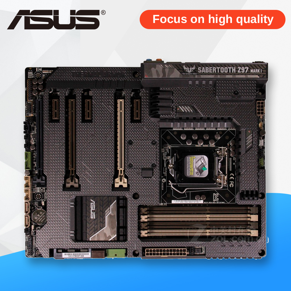 все цены на Asus SABERTOOTH Z97 MARK 1 Desktop Motherboard Z97 Socket LGA 1150 i7 i5 i3 DDR3 32G SATA3 ATX